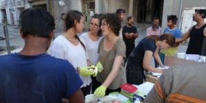 Medizinische Nothilfe für flüchtende in Patras