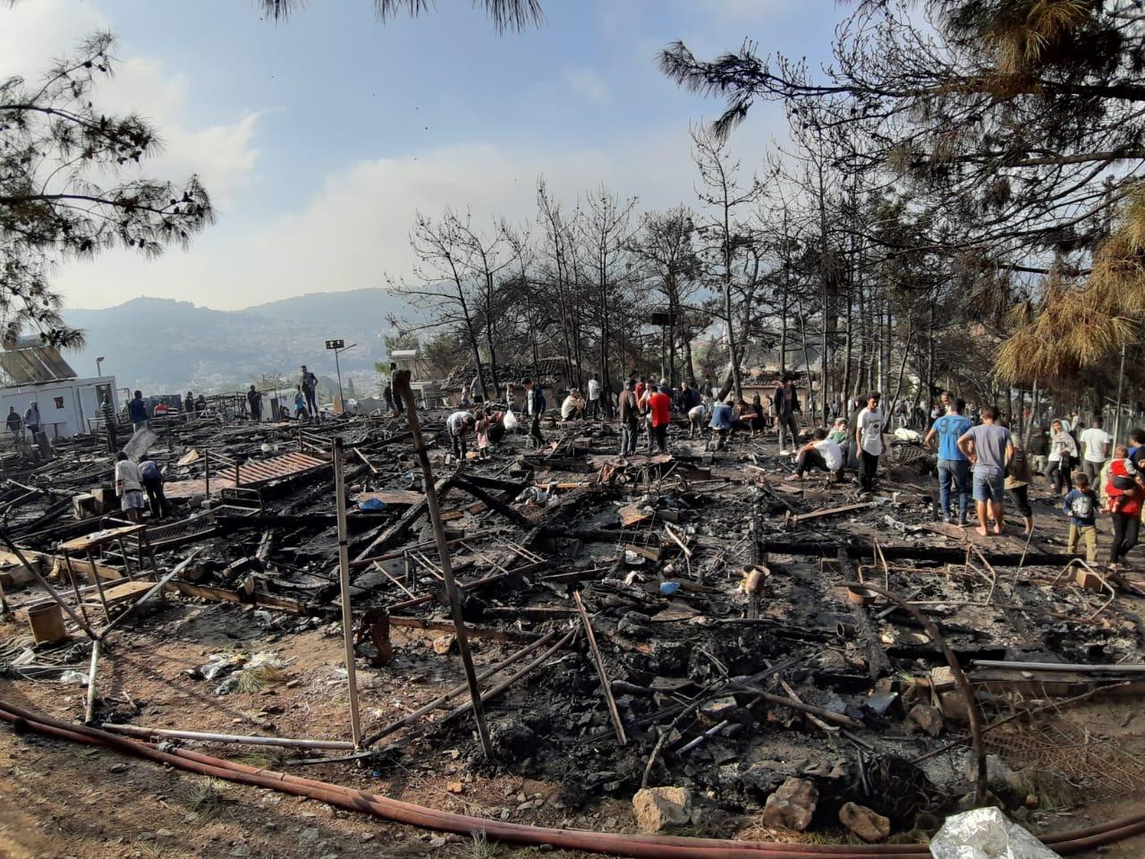Grossbrand auf Samos