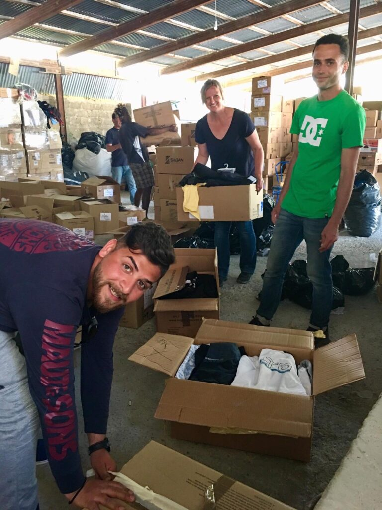 flüchtlingscamp Samos griechenland humanitäre hilfe