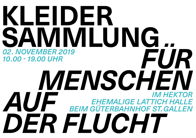 Kleidersammlung für Menschen auf der Flucht, St.Gallen