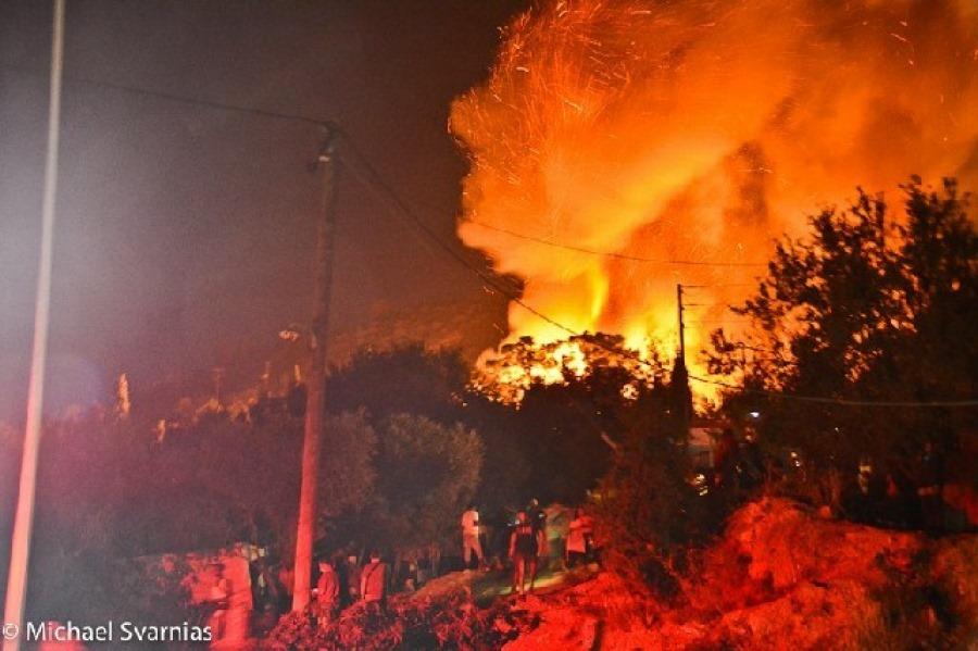 Feuer in Flüchtlingslager
