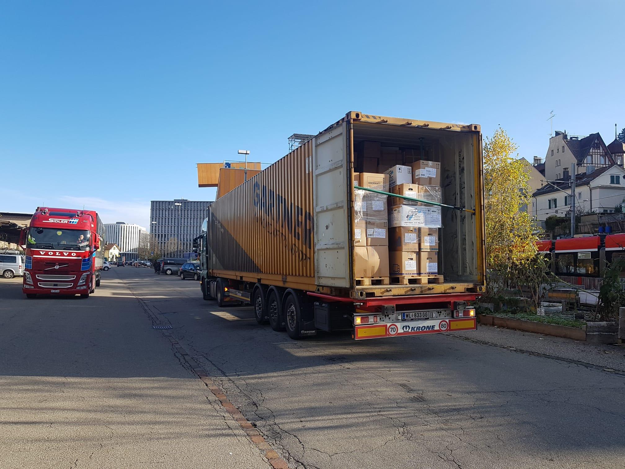 Hilfsgütertransport von St. Gallen nach Griechenland